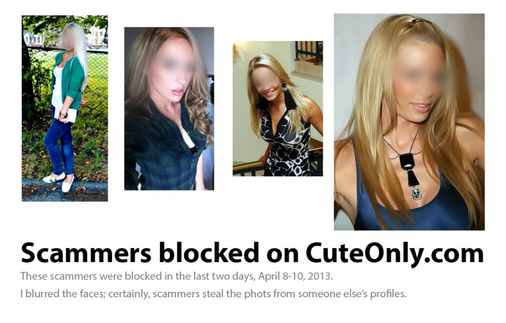 Scammers discovered and blocked by CuteOnly team